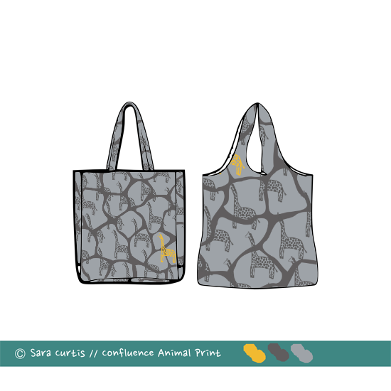 Giraffe print bag Mock-up | Radiant Home Studio
