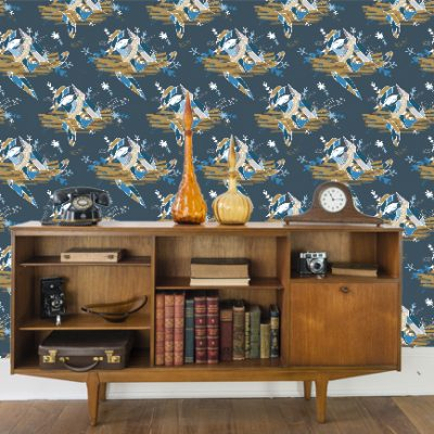 Feathered Nest Wallpaper design | Radiant Home studio