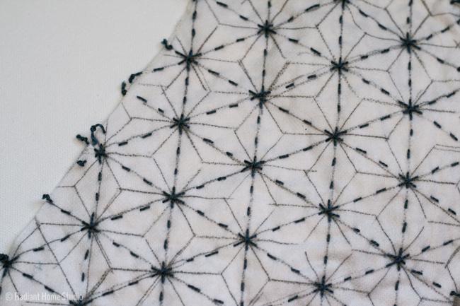 Sashiko Embroidered Zsayla Top | Sewing Pattern Kate & Rose | Radiant Home Studio