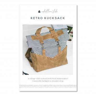Retro Rucksack Sewing Pattern   Radiant Home Studio