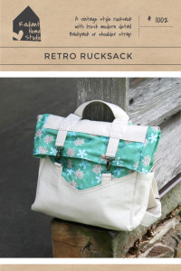 Retro Rucksack Sewing Pattern | Convertible Backpack | Radiant Home Studio