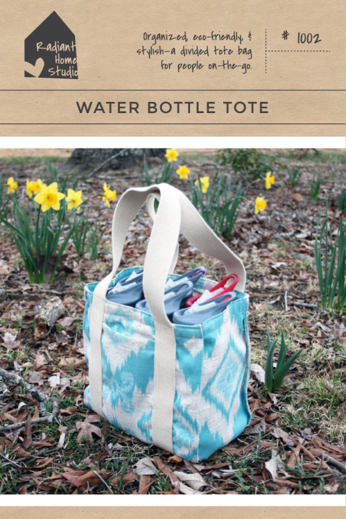 Water Bottle Tote Sewing Pattern | Wine Tote | Radiant Home Studio