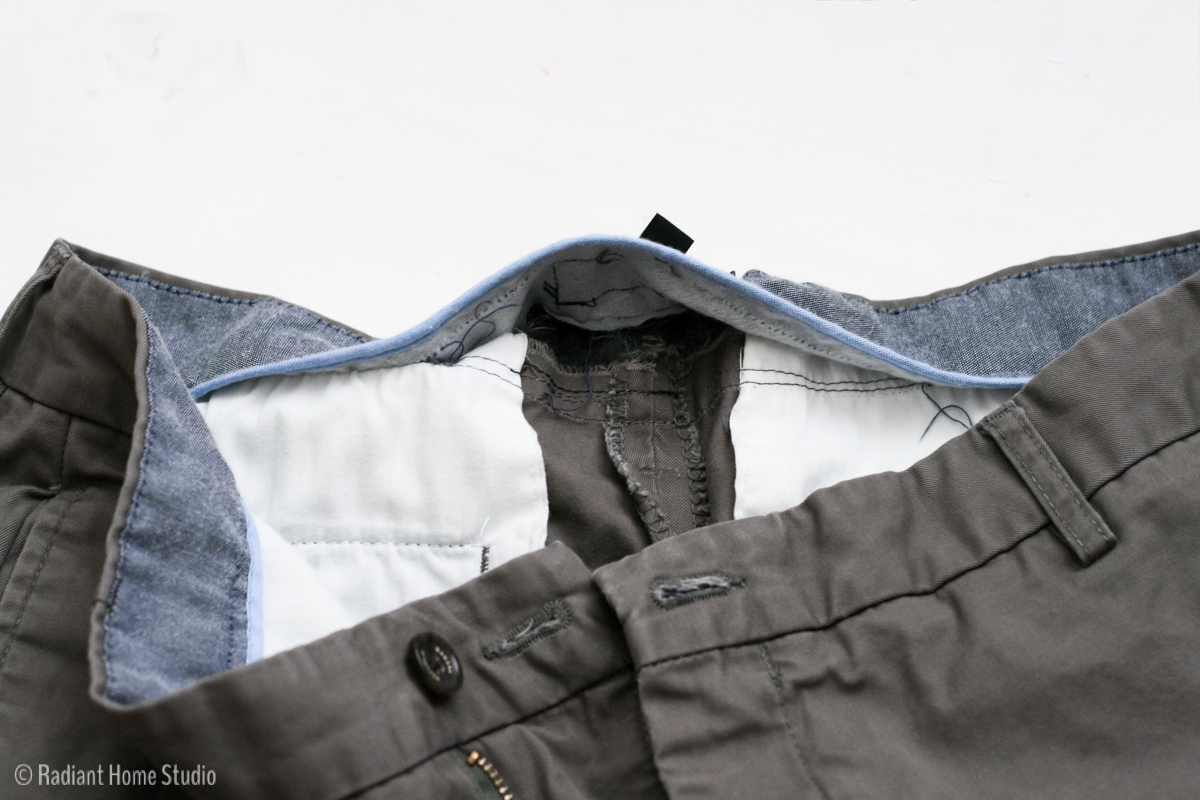 How to Alter the Waist on Men's Pants   Radiant Home Studio