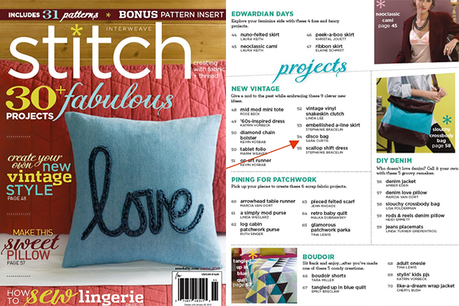 Stitch Winter 2015 Cover and Contents  | Radiant Home Studio