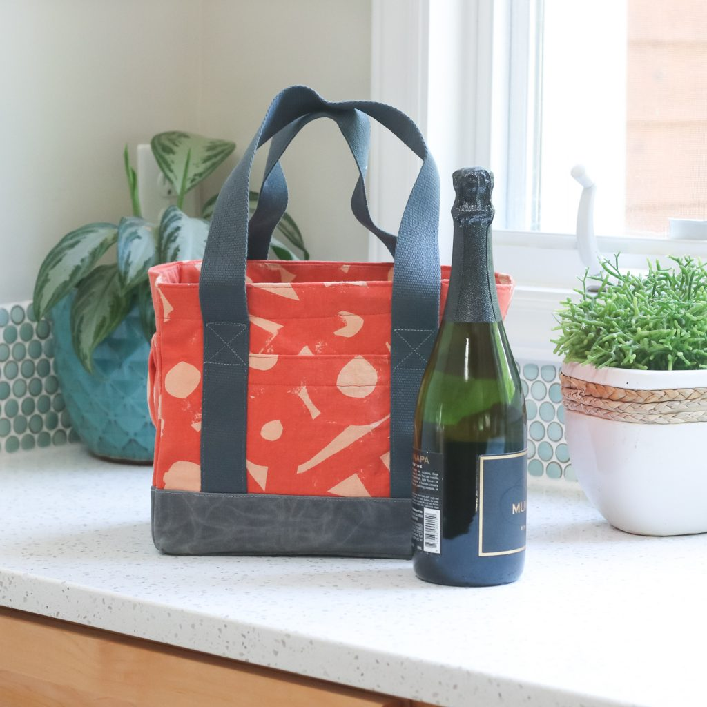 Webster Water Bottle Tote | Wine Tote| Radiant Home Studio