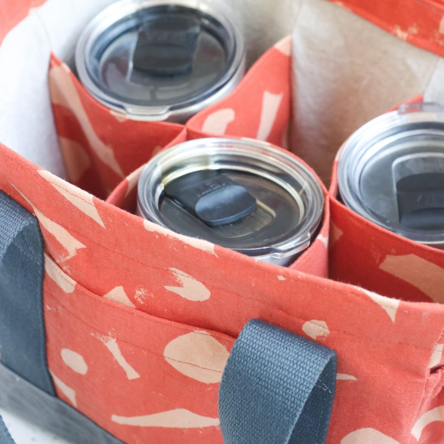 Webster Water Bottle Tote | Radiant Home Studio | Ruby Star Society Fabric