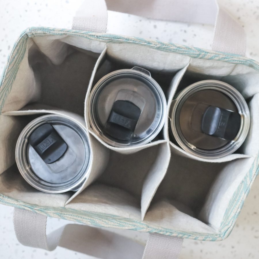 Webster Water Bottle Tote   Radiant Home Studio   Top View