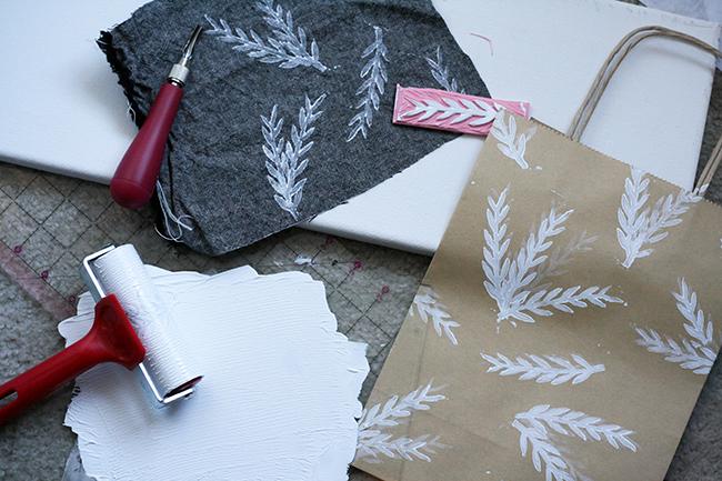 Hand-printed Christmas Ornament | Radiant Home Studio