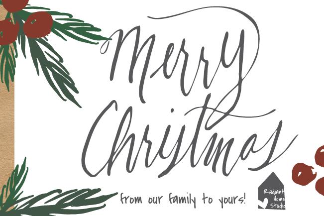 Merry Christmas Calligraphy | Radiant Home Studio