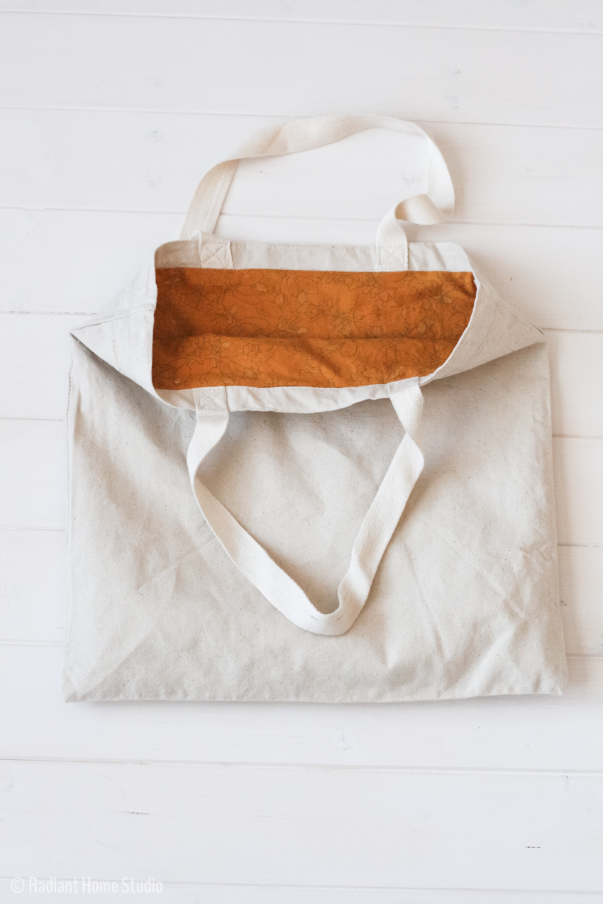 2 Ways To Add A Lining To A Tote Bag Tote Bag Upgrade Radiant Home Studio