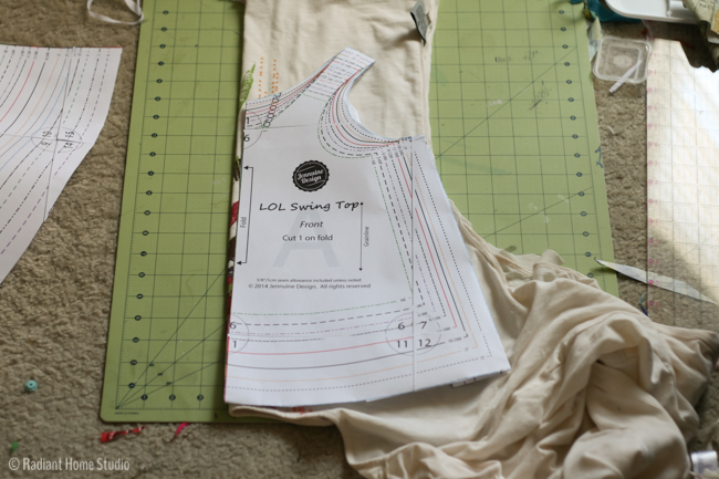 Upcycled LOL Swing Top   Sewing Pattern by Jennuine Designs   Radiant Home Studio