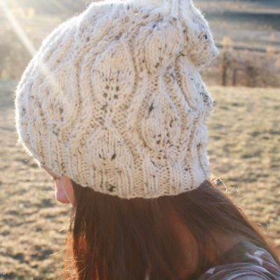 Cascade Leaf Hat Knitting Pattern Review | Radiant Home Studio