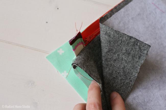 Patchwork Heart Zipper Pouch Tutorial | Radiant Home Studio