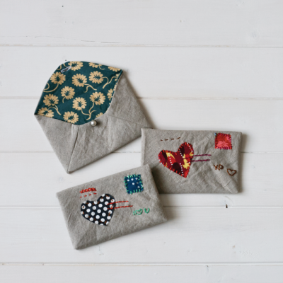 Embroidered Fabric Envelope | Free Pattern Friday | Radiant Home Studio