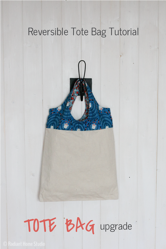 Sew a Reversible Tote Bag with Strong Straps |Bag Sewing Tutorial | Radiant Home Studio