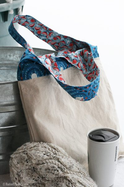 Sew a Reversible Tote Bag with Strong Straps | Radiant Home Studio