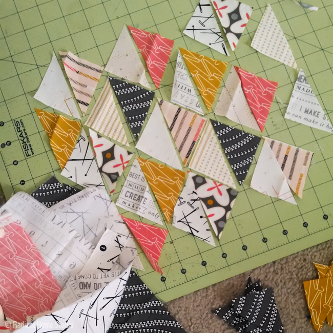Triangle Quilted Sketchbook Cover Tutorial | Radiant Home Studio