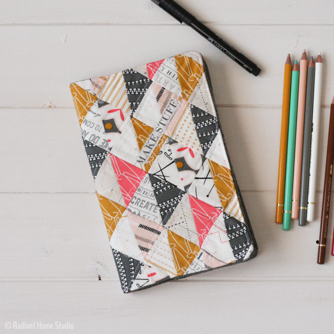Cute Book Cover Ideas : Quilted sketchbook cover tutorial radiant home studio