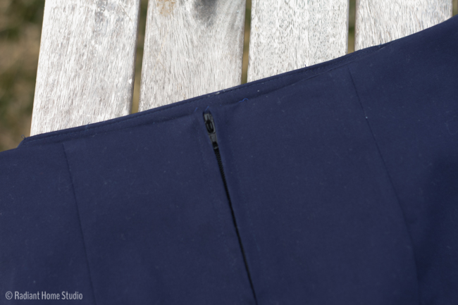 Classic Navy Pencil Skirt Mccalls 3830 | Radiant Home Studio