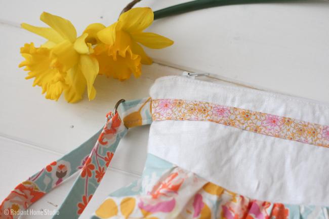 Ribbon Zipper Pouch | Bridesmaid Gift Idea |Radiant Home Studio