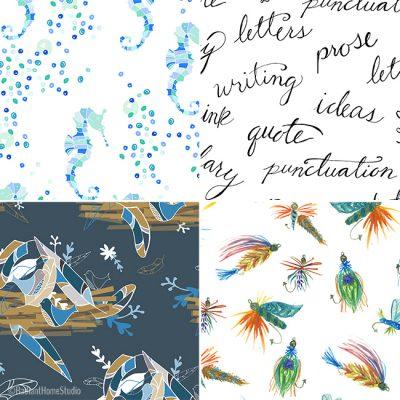 New Spoonflower Fabric Designs | Radiant Home Studio