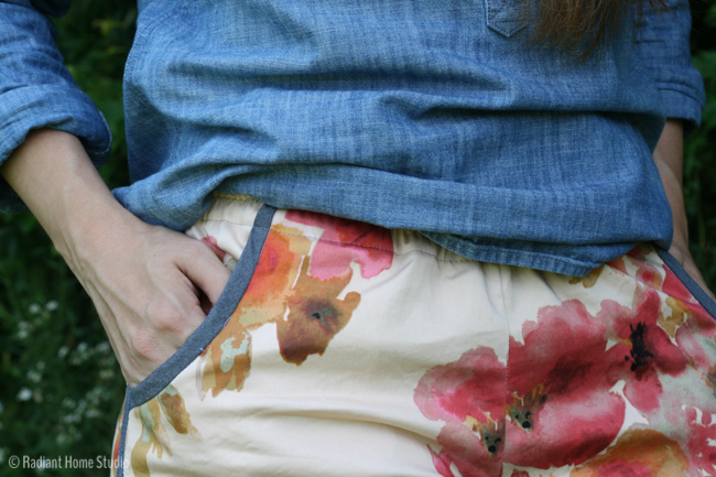 Watercolor Floral Prefontaine Shorts | Radiant Home Studio