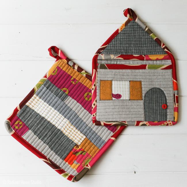 Patchwork House Potholder | Radiant Home Studio