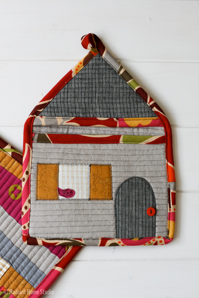 Patchwork House Potholder | Radiant Home Studio