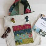Kantha Stitched Pocket {Tote Bag Upgrade} | Radiant Home Studio