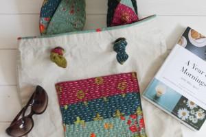 Add Kantha Stitched Straps {Tote Bag Upgrade}