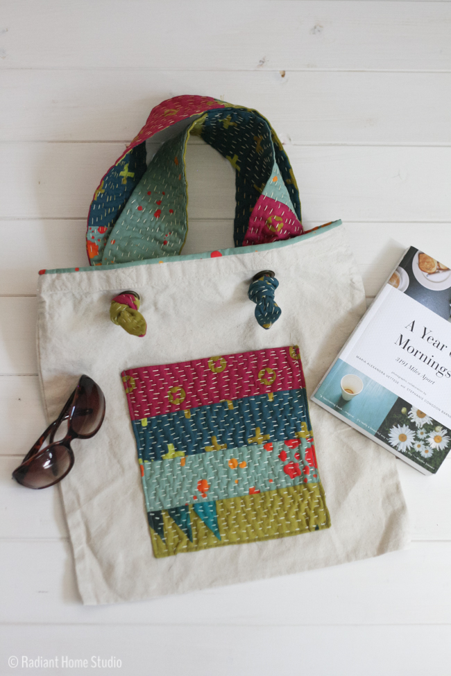 Kanth Stitched Pocket {Tote Bag Upgrade} | Radiant Home Studio