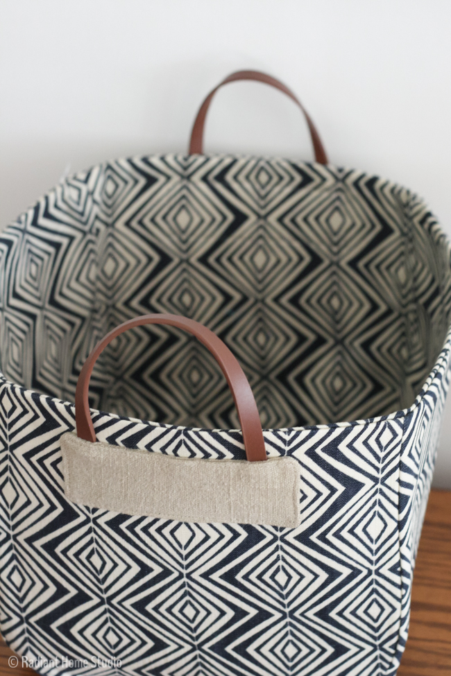 Handmade Fabric Basket Pattern : Basket from handmade style radiant home studio