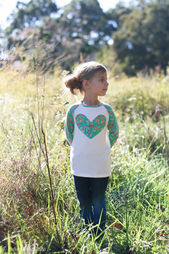 Heart Field Trip Raglan Shirt | Radiant Home Studio