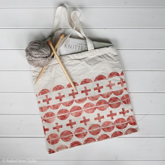 Hand Stamped Tote Bag Upgrade | Radiant Home Studio