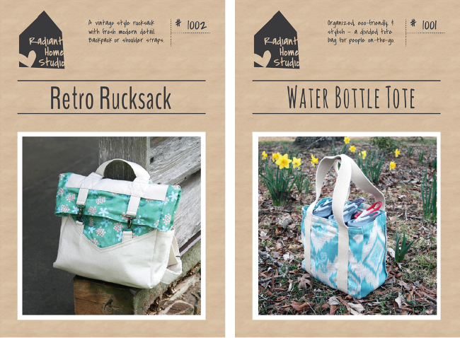 Retro Rucksack and Water Bottle Tote | Radiant Home Studio
