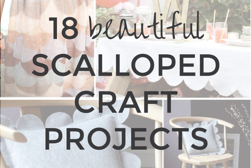 18 Beautiful Scalloped Craft Projects   Handmade Gift Ideas   Radiant Home Studio