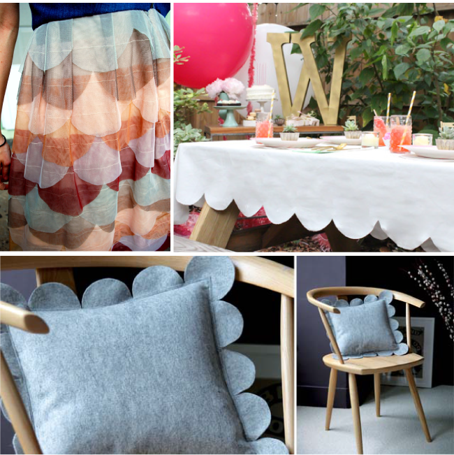 18 Beautiful Scalloped Craft Projects | Radiant Home Studio