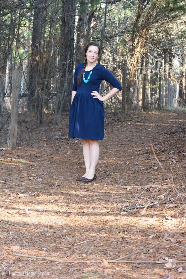 Blue Out and About Dress by Sew Caroline | Handmade Clothes I actually wear | Radiant Home Studio