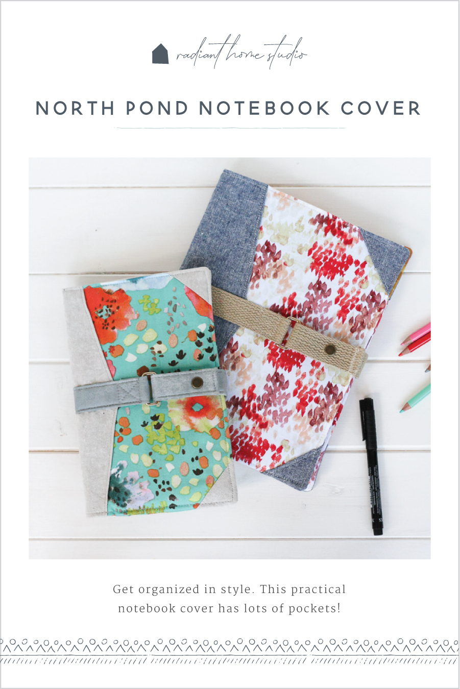North Pond Notebook Cover | Radiant Home Studio