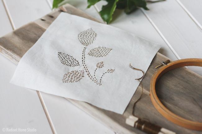 Free Leaf Embroidery Pattern | Radiant Home Studio