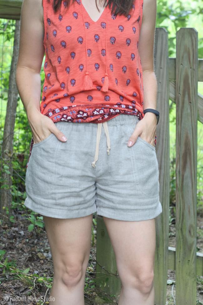 Linen Parkside Shorts | Sew Caroline | Radiant Home Studio