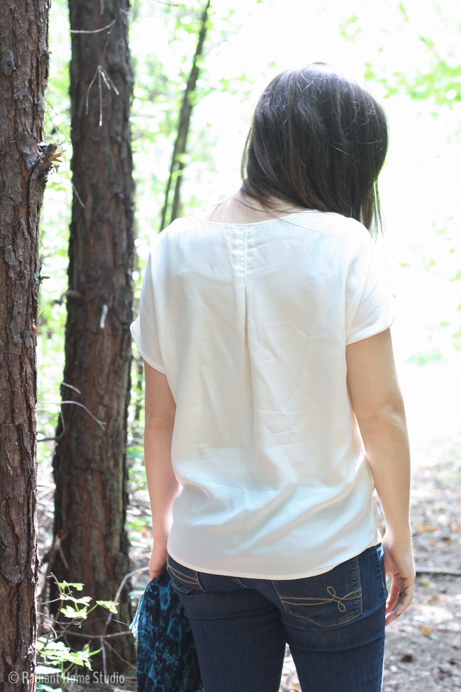 Silk Weekend Getaway Blouse | Liesl & Co | Radiant Home Studio