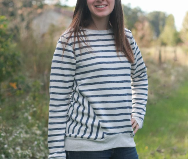 Striped Halifax Hoodie | Hey June Handmade | Radiant Home Studio