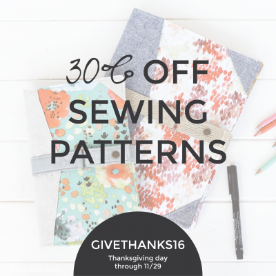 Thanksgiving and Black Friday Sewing Pattern Sale   Radiant Home Studio