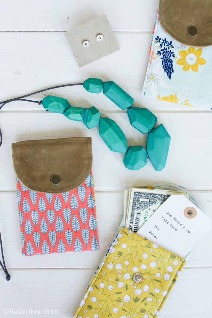 How to Make A Waxed Canvas Gift Pouch   Radiant Home Studio