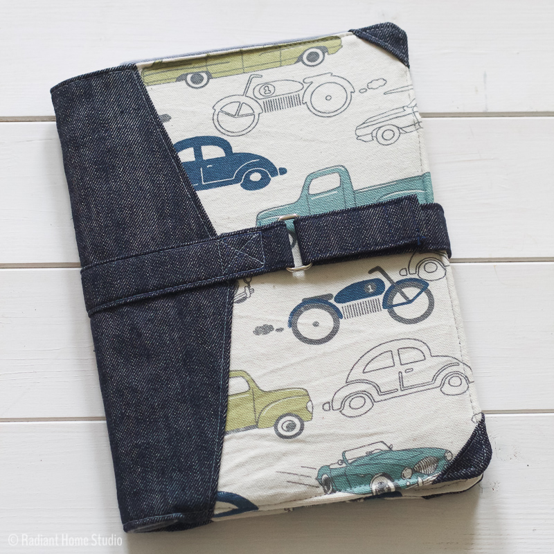 Personalizing the North Pond Notebook Cover sewing pattern | Radiant Home Studio