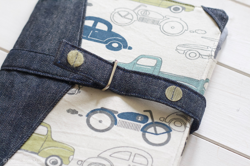 Personalizing the North Pond Notebook Cover with velcro | Radiant Home Studio