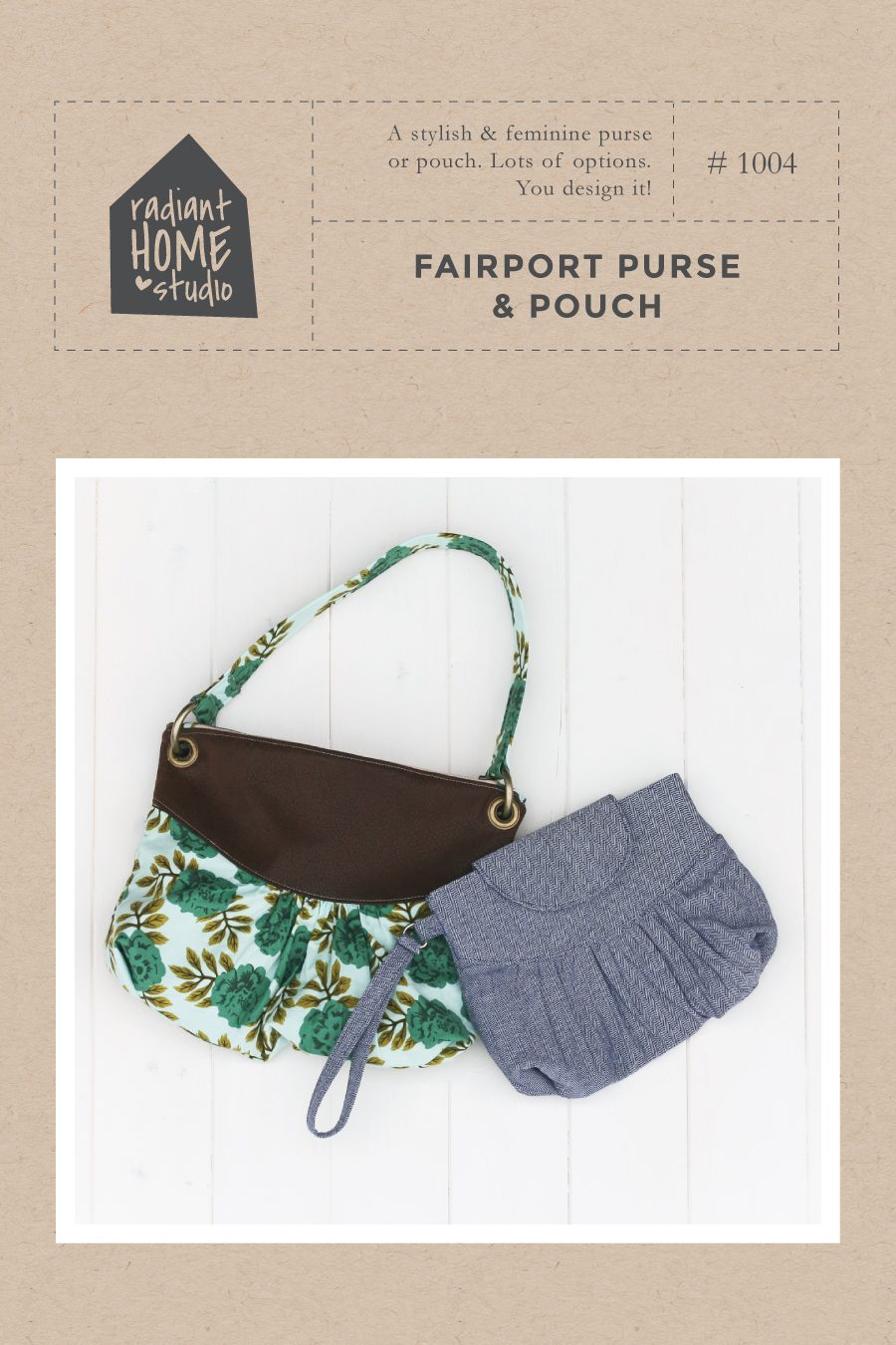 Fairport Purse & Pouch sewing pattern | Radiant Home Studio