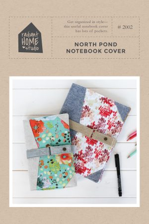 North Pond Notebook Cover Sewing Pattern | Radiant Home Studio