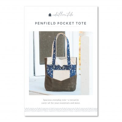 Penfield Pocket Tote Sewing Pattern   Radiant Home Studio